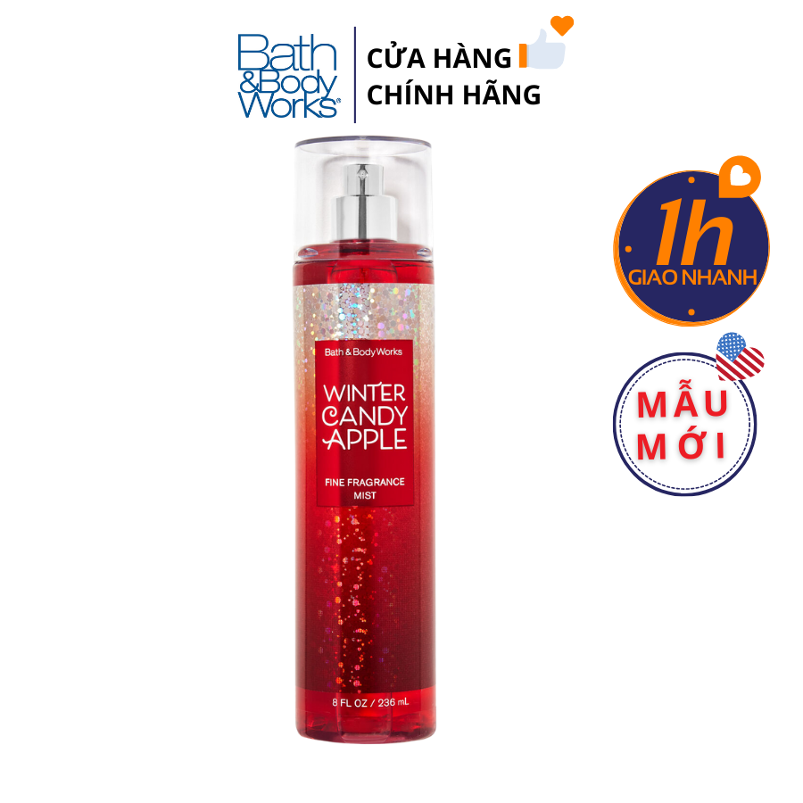 Xịt Body Bath & Body Works WINTER CANDY APPLE Fine Fragrance Mist