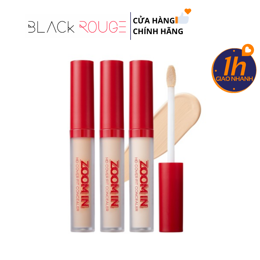 Che Khuyết Điểm Bền Màu 7 Tiếng Black Rouge Zoom In HD Cover Fit Concealer