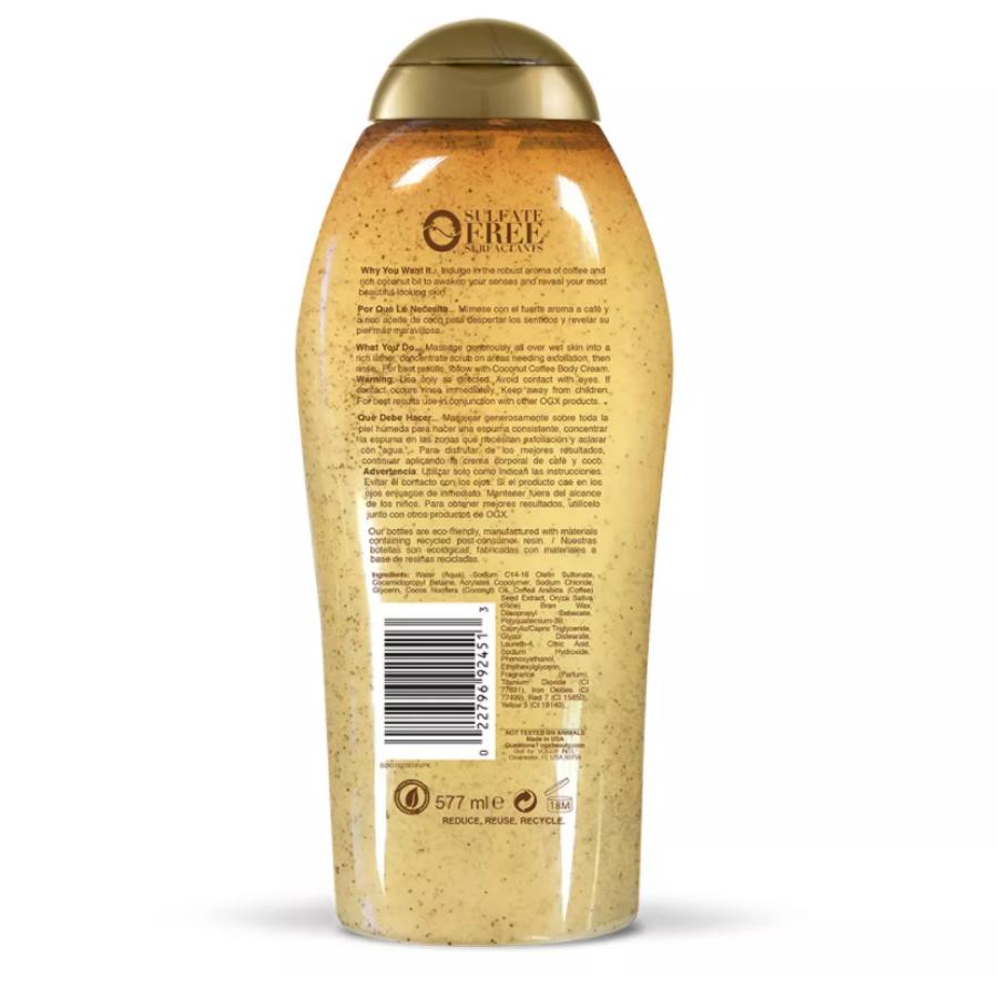 Sữa Tắm Tẩy Da Chết OGX Smoothing Coconut Coffee Scrub & Wash