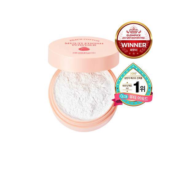 Phấn Phủ Bột Kiềm Dầu SkinFood Peach Cotton Multi Finish Powder 5g