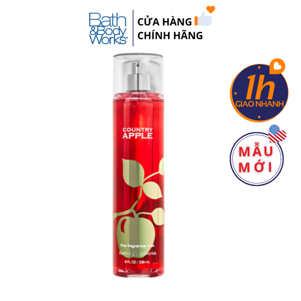 Xịt Body Bath & Body Works COUNTRY APPLE Fine Fragrance Mist
