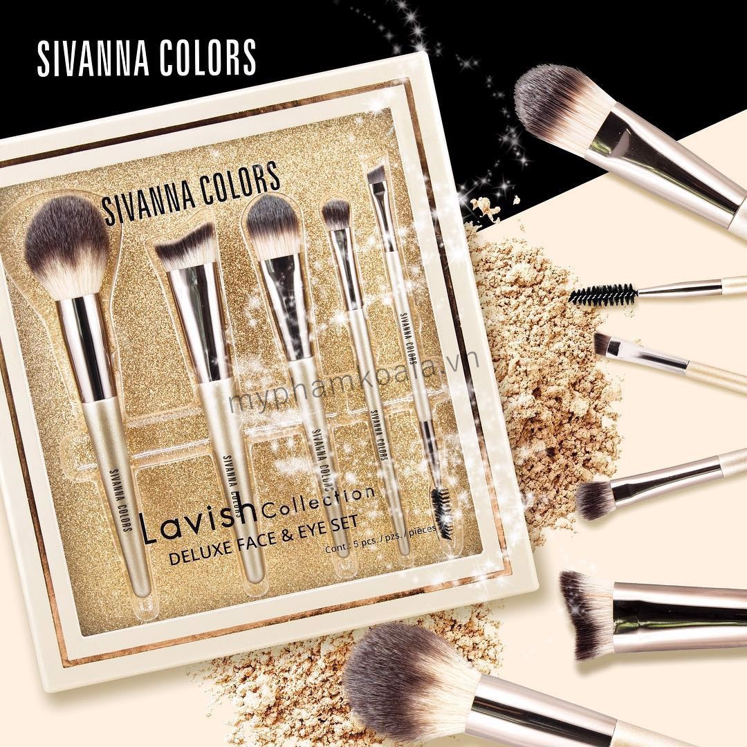 Bộ Cọ Sivanna Colors Lavish Collection Deluxe Face & Eye Set BR1706