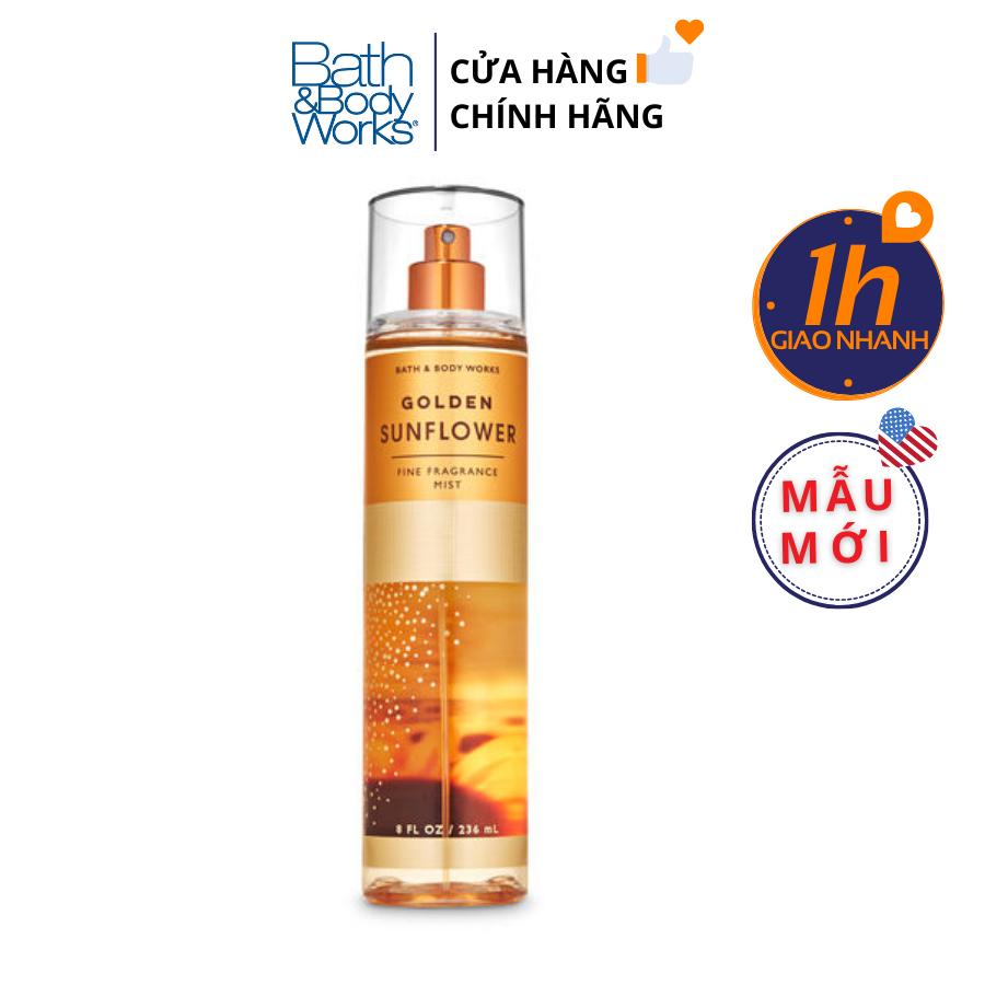 Xịt Body Bath & Body Works GOLDEN SUNFLOWER Fine Fragrance Mist