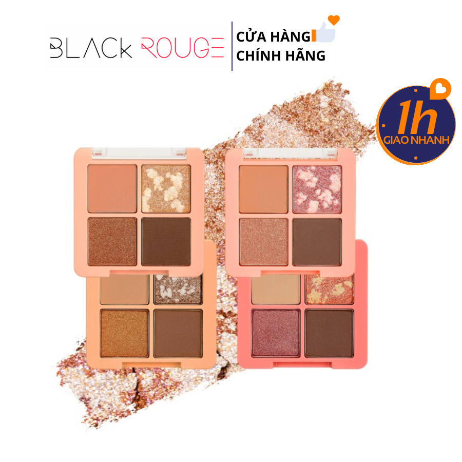 Màu Mắt Pha Lê 4 Ô Black Rouge Crystal Heart Lock Shadow