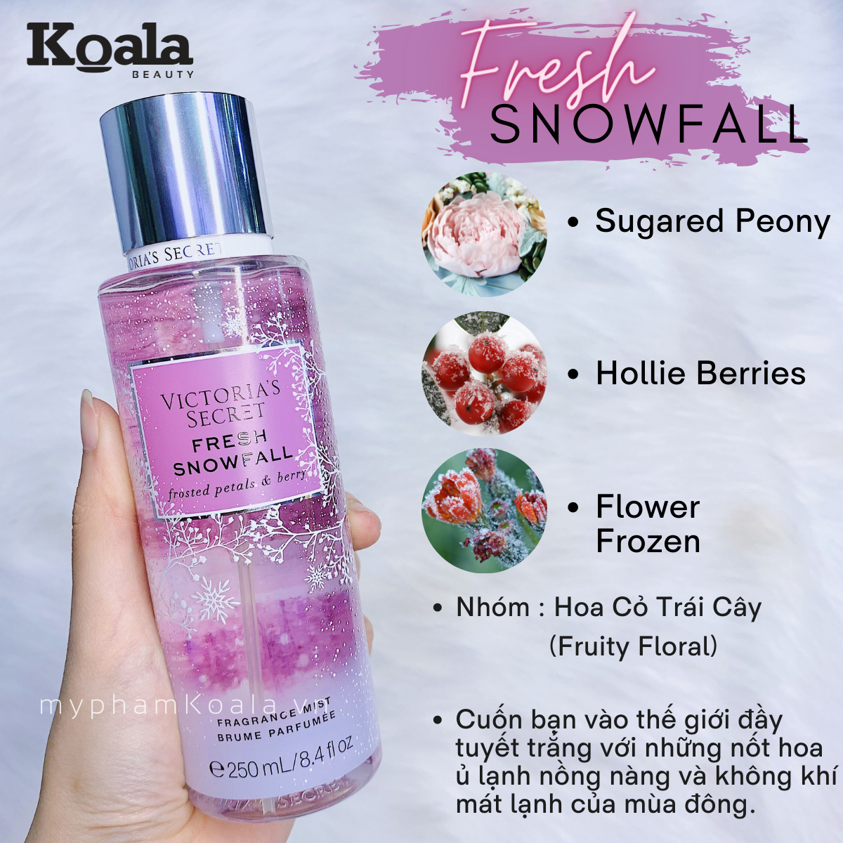 Xịt Body Victoria's Secret FRESH SNOWFALL Fragrance Mist