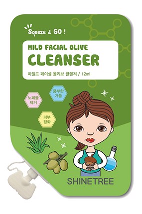 Sữa Rửa Mặt ShineTree Mild Facial Olive Cleanser 12ml