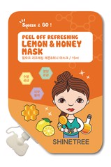 Mặt Nạ Shine Tree Peel Off Refreshing Lemon & Honey Mask 15g