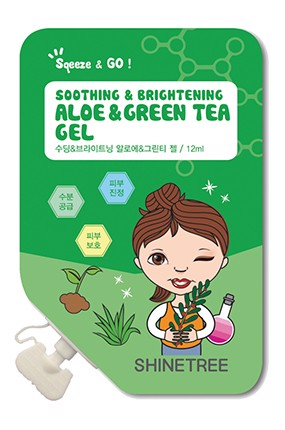 Gel dưỡng Shinetree Soothing Brightening Aloe & Green Tea Gel 12ml