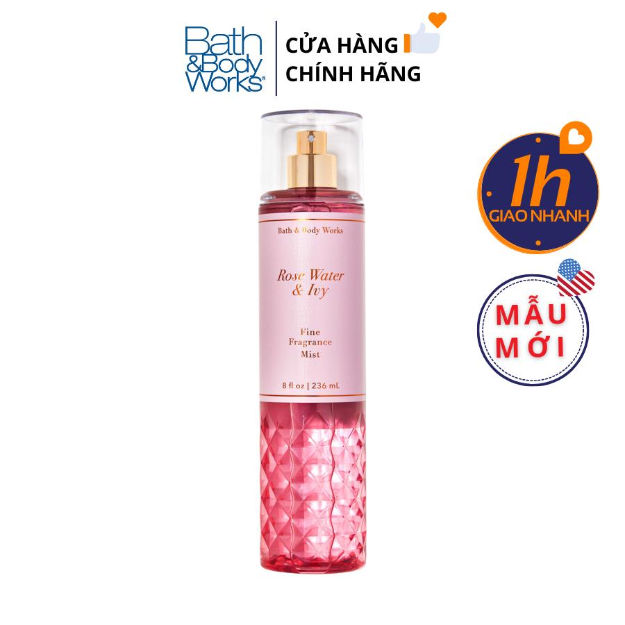Xịt Body Bath & Body Works ROSE WATER & IVY Fine Fragrance Mist
