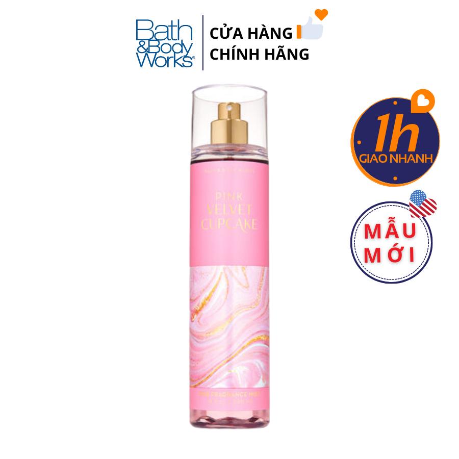 Xịt Body Bath & Body Works PINK VELVET CUPCAKE Fine Fragrance Mist