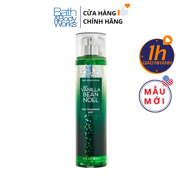 Xịt Body Bath & Body Works VANILLA BEAN NOEL Fine Fragrance Mist
