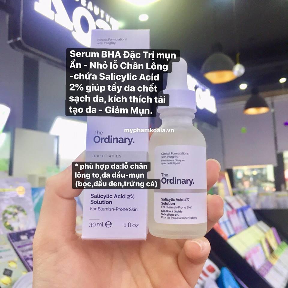 Serum Trị Mụn Ẩn The Ordinary Salicylic Acid 2% Solution 30ml