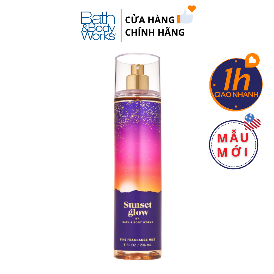 Xịt Body Bath & Body Works SUNSET GLOW Fine Fragrance Mist