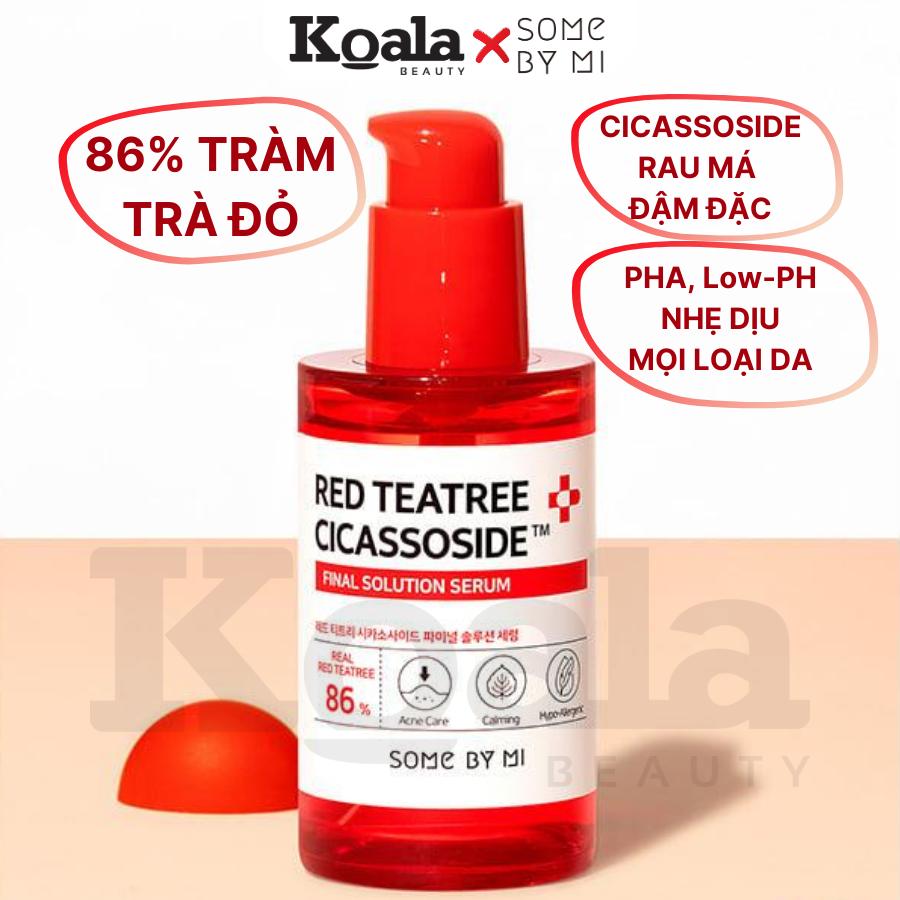 Tinh Chất Trị Mụn Tràm Trà Đỏ Some By Mi Red Teatree Cicassoside Final Solution Serum 50ml