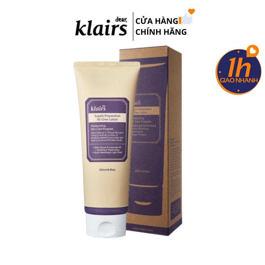 Kem Dưỡng Đa Năng Klairs Supple Preparation All - Over Lotion 250ml