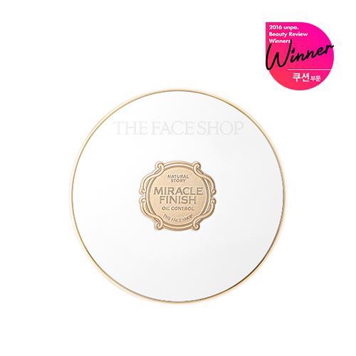 Phấn Nước The Face Shop Miracle Finish Oil Control Water Cushion SPF50+ PA+++ 15g