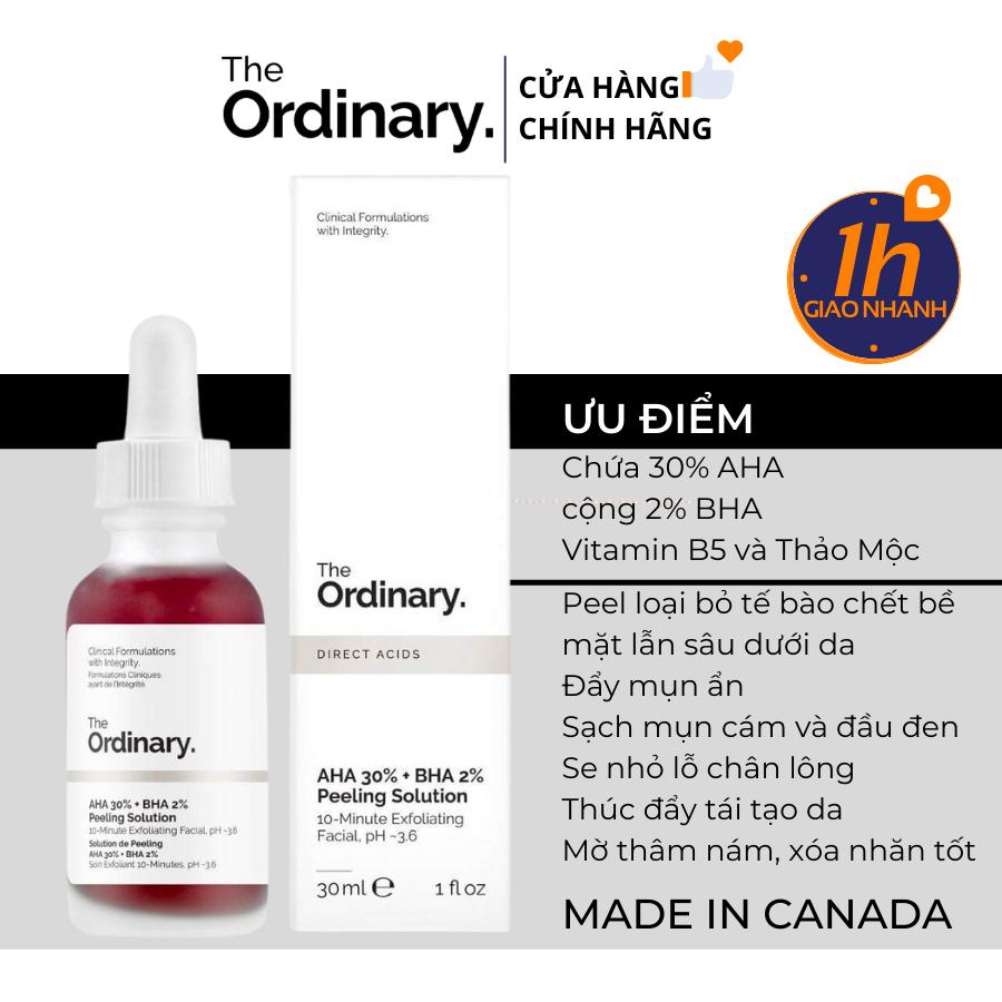 Serum Tẩy Da Chết Hóa Học The Ordinary AHA 30% + BHA 2% Peeling Solution 30ml