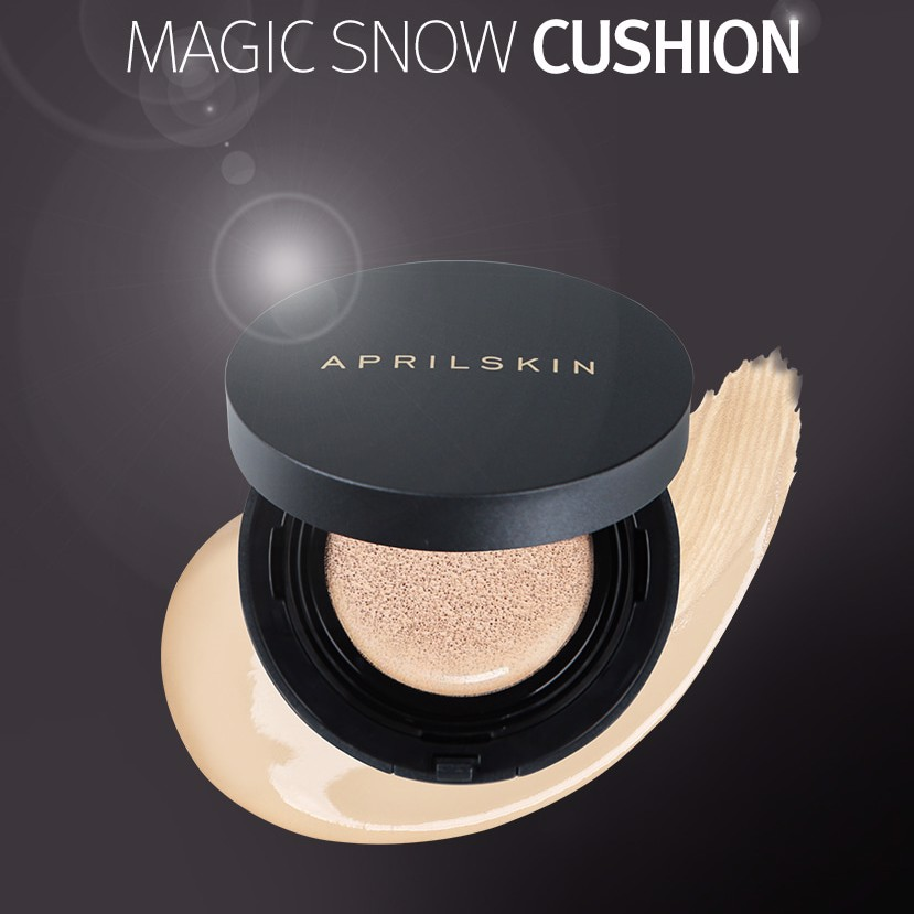 Phấn Nước Che Phủ Khủng April Skin Black Magic Snow Cushion 15gr