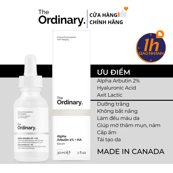 Serum Trắng Da An Toàn The Ordinary Alpha Arbutin 2% + HA 30ml