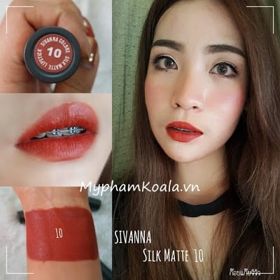 Son Thỏi Sivanna Colors Silk Matte