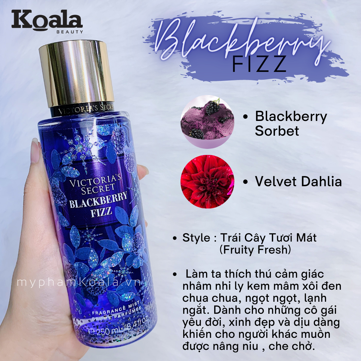 Xịt Body Victoria's Secret BLACKBERRY FIZZ Fragrance Mist