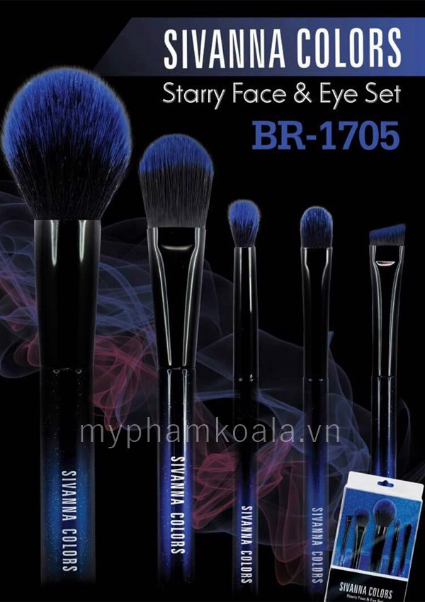 Bộ Cọ Sivanna Colors Starry Face Eye Set BR1705