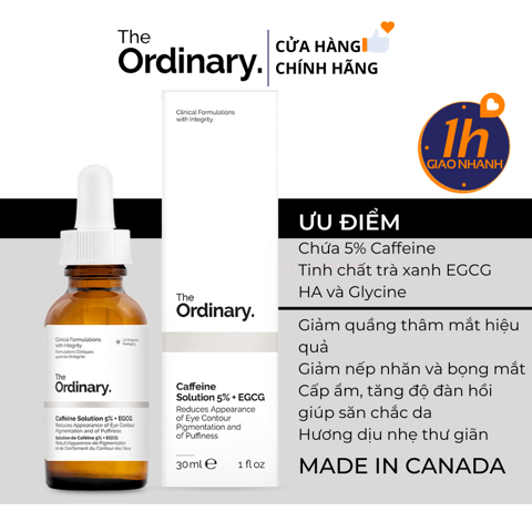Serum Trị Thâm Bọng Mắt The Ordinary Caffeine Solution 5% + EGCG 30ml