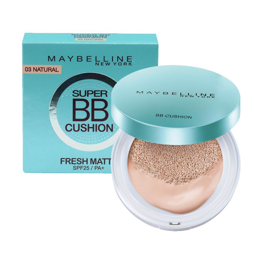 Phấn Nước Maybelline Super BB Cushion Fresh Matte SPF 25/PA+ (14g)
