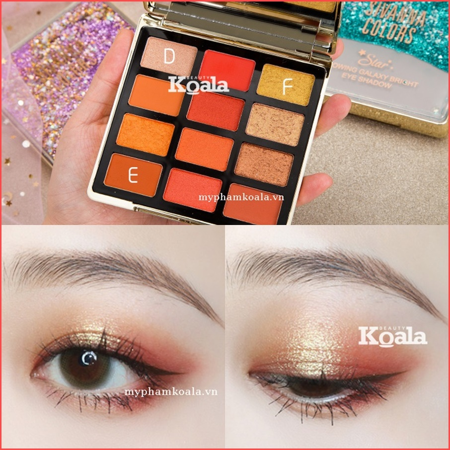 Màu mắt 12 ô Sivanna Colors Glowing Galaxy Bright EyeShadow