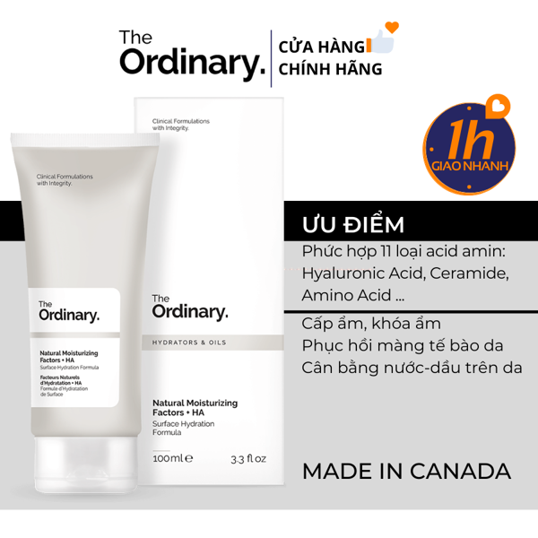 Kem Dưỡng The Ordinary Natural Moisturizing Factors + HA 100ML
