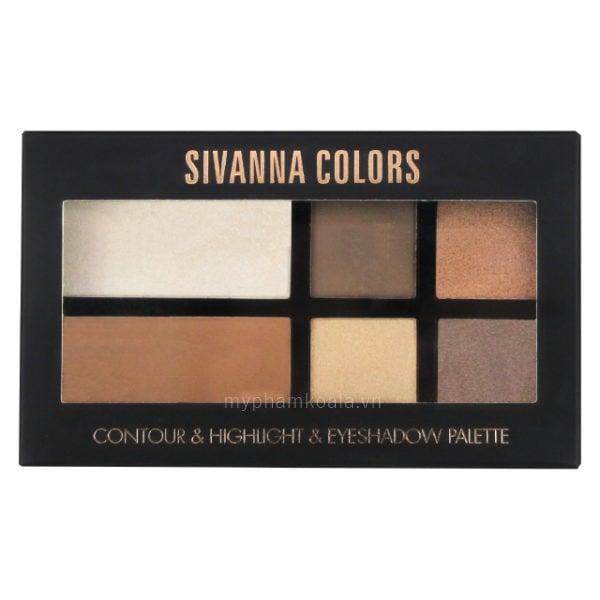 Tạo Khối Đa Năng 3in1 Sivanna Colors Contour & Highlight & Eyeshadow Palette - HF365