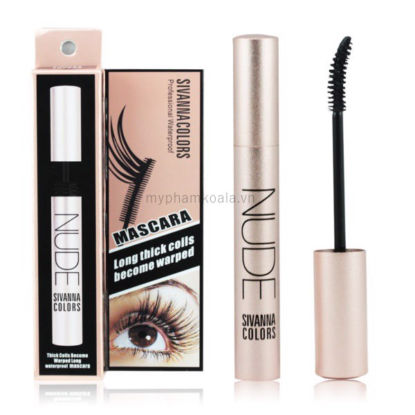 Mascara Sivanna Colors Nude Professional Waterproof - HF583