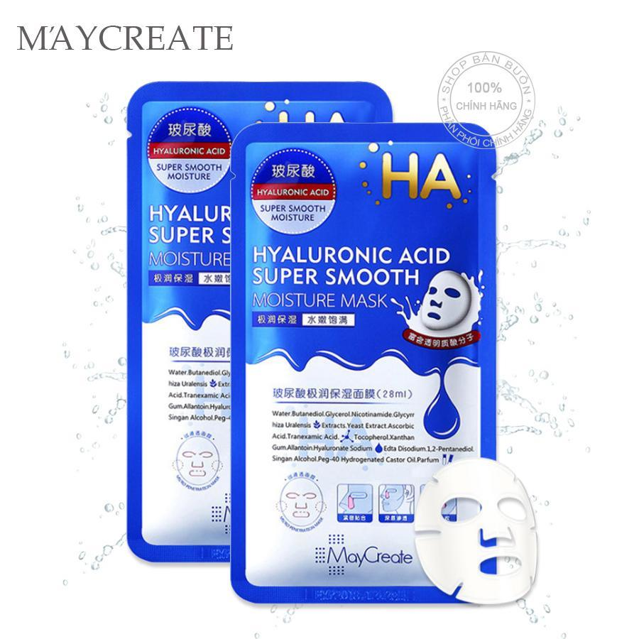 Mặt nạ MayCreate HA Hyaluronic Acid Super Smooth Moisture Mask