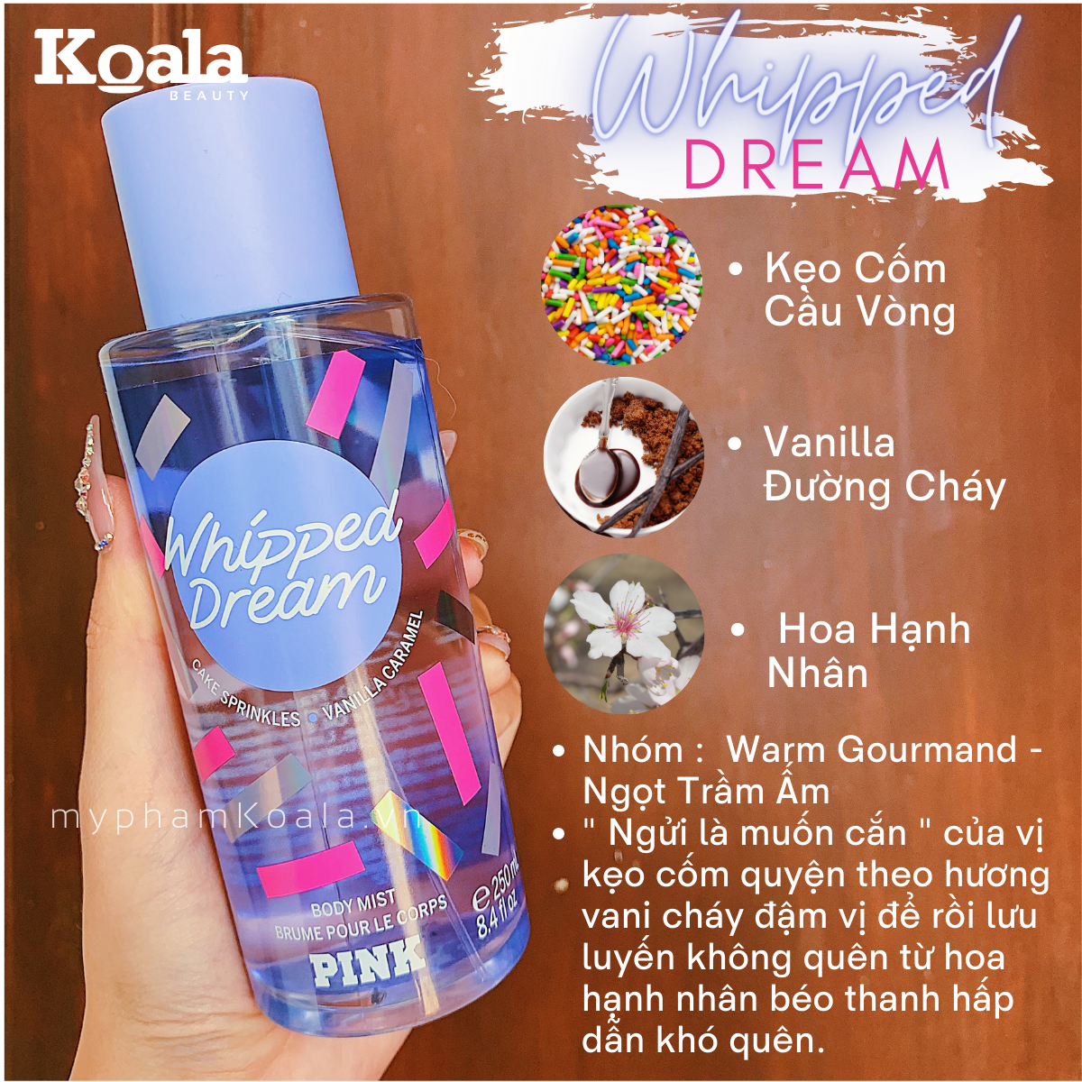 Xịt Body Victoria's Secret PINK WHIPPED DREAM Body Mist