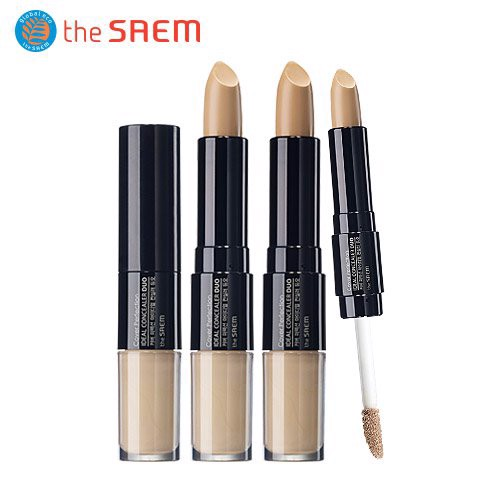 Che Khuyết Điểm 2 Đầu The Saem Cover Perfection Ideal Concealer Duo