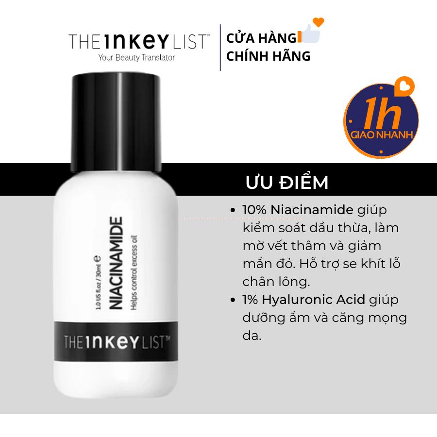 Tinh Chất Ngừa Mụn Mờ Thâm The Inkey List Niacinamide Oil Control Serum