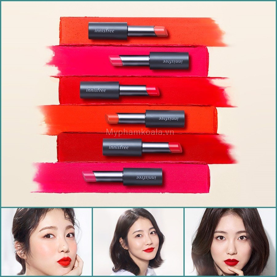 [NEW 2019] Son Thỏi Siêu Lì Innisfree Real Fit Matte Lipstick