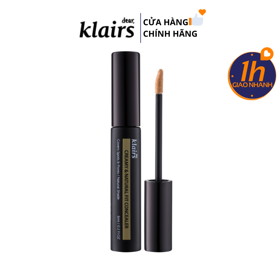 Che Khuyết Điểm Klairs Creamy & Natural Fit Concealer