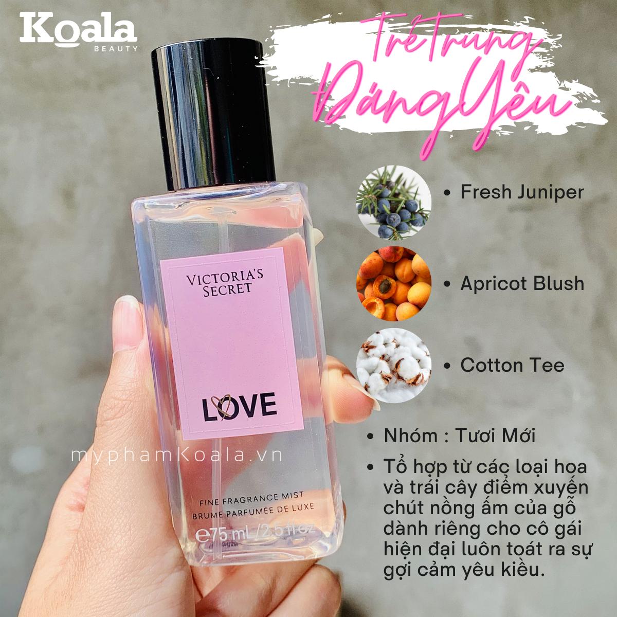 Xịt Body Victoria's Secret LOVE Fine Fragrance Mist 75ml