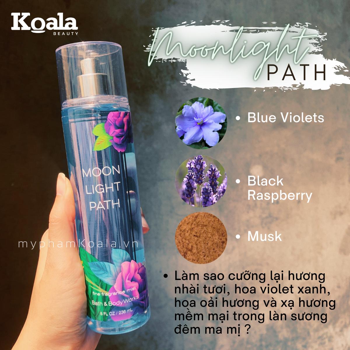 Xịt Body Bath & Body Works MOONLIGHT PATH Fine Fragrance Mist
