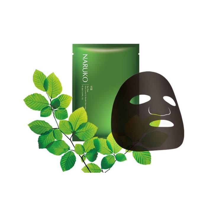 Mặt Nạ Tràm Trà Trị Mụn Naruko Tea Tree Shine Control and Blemish Clear Mask
