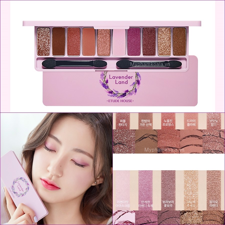 Bảng Màu Mắt 10 ô Etude House Play Color Eyes #Lavender Land