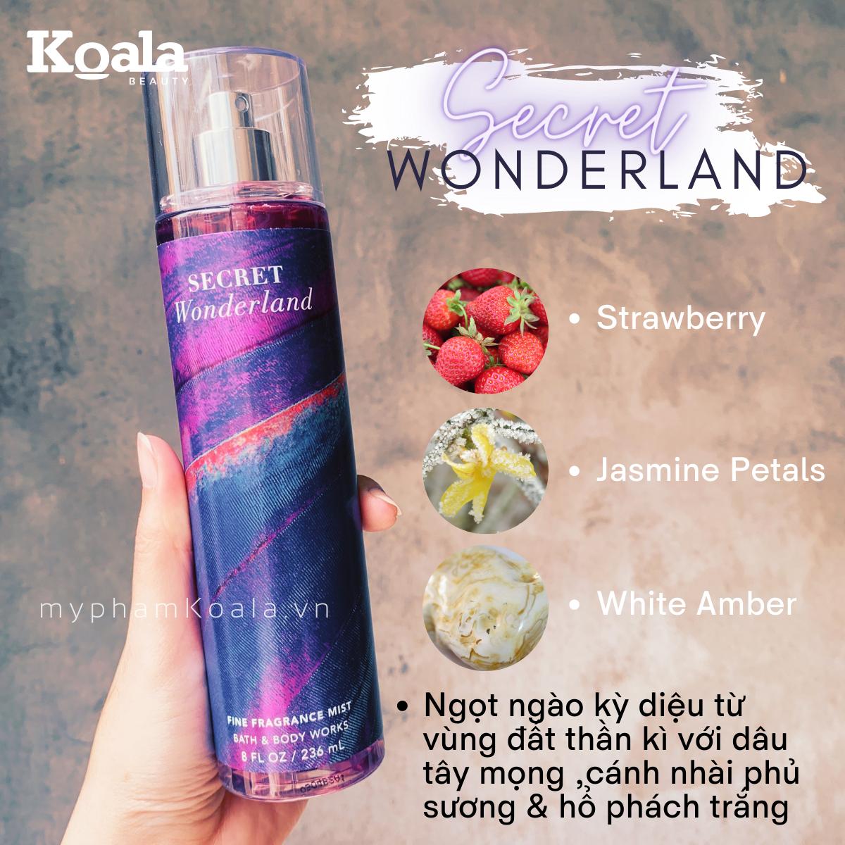 Xịt Body Bath & Body Works SECRET WONDERLAND Fine Fragrance Mist