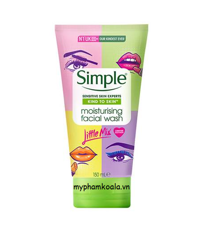 Sữa Rửa Mặt Bản Giới Hạn Simple Little Mix Kind To Skin Moisturising Facial Wash 150ml