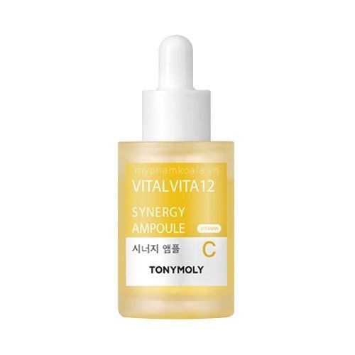 Huyết Thanh Cô Đặc Trắng Phục Hồi Tái Tạo Da TonyMoly Vital Vita 12 Synergy Ampoule Vitamin C 30ml