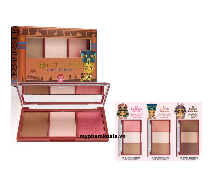Tạo Khối Cathy Doll 3D Face Forward Nefertiti Contour Kit