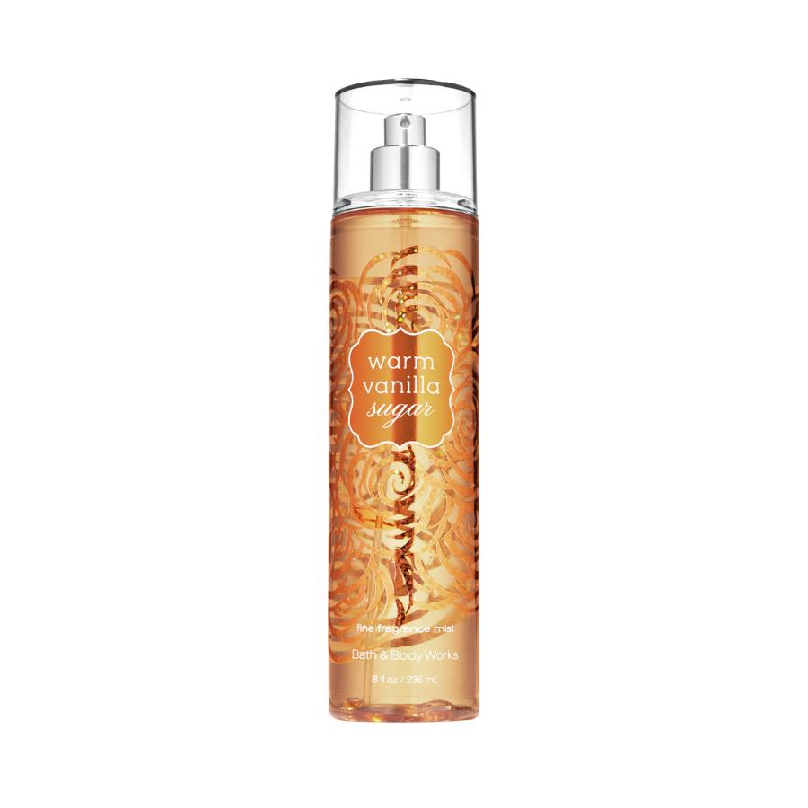 Xịt Body Bath & Body Works WARM VANILLA SUGAR Fine Fragrance Mist