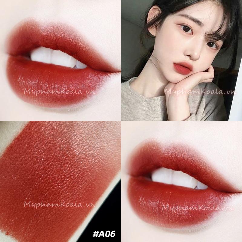 [HOT] Son Kem Lì Black Rouge Air Fit Velvet Tint #06 - Đỏ Nâu