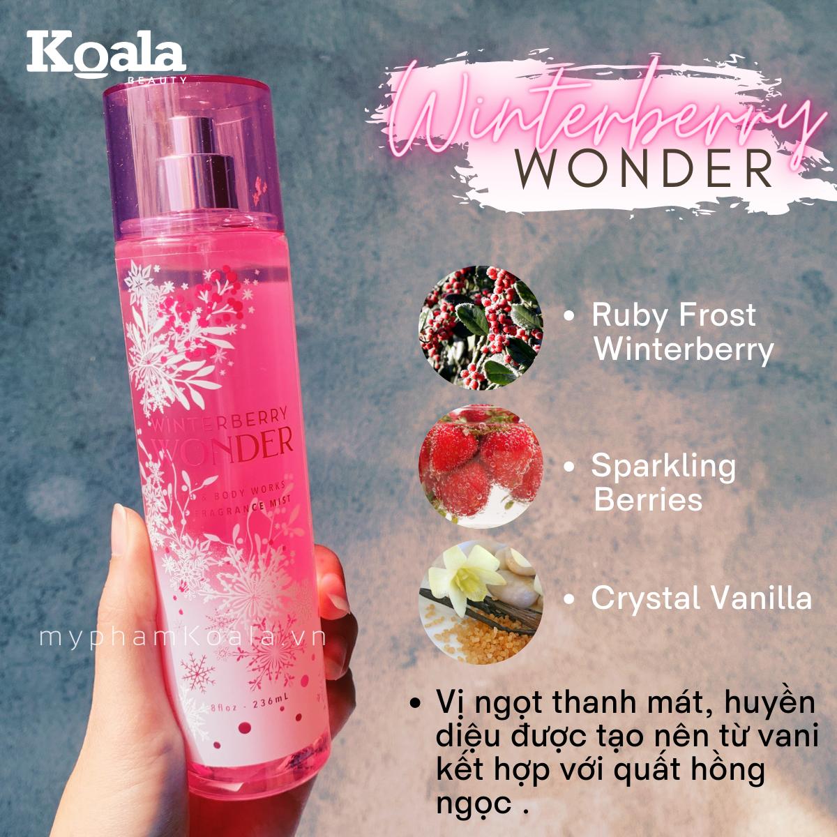 Xịt Body Bath & Body Works WINTERBERRY WONDER Fine Fragrance Mist