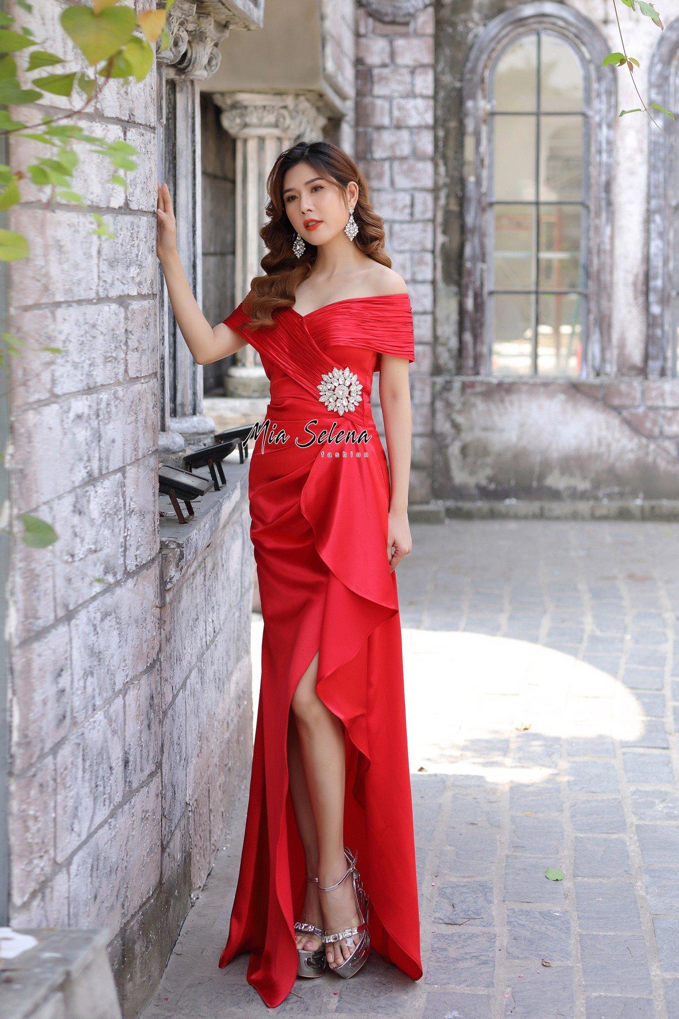 Đầm Dạ Hội Đỏ MiaSelena thiết kế sang trọng trẻ trung